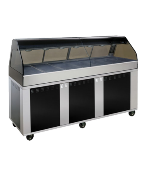 "Hot Deli Cook/Hold/Display System, 96"" L, 2 ft. self-service left side, includes"