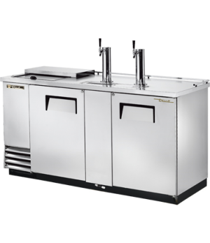 Club Top Draft Beer Cooler, (3) keg capacity, stainless steel counter top & lid