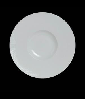 "Signature Gourmet Plate, 10-5/8"" dia. (5"" well), round, porcelain, Sonata, Rene"