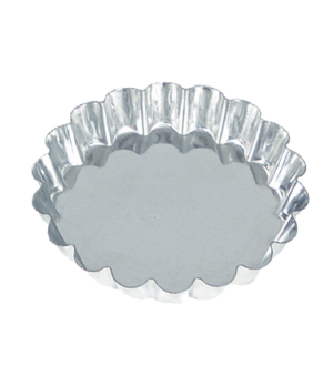 "Tartelette Mould, 3-1/2"", fluted, tin"