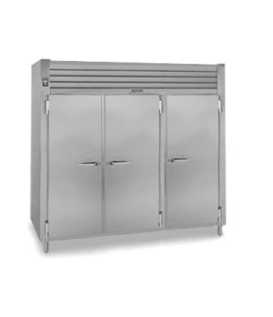 Spec-Line Heated Cabinet, Pass-Thru, Three-Section, stainless steel exterior, al