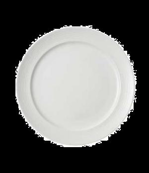 "Plate, 11-3/8"" x 8-5/8"" well, premium porcelain, Marchesi-Sedona"