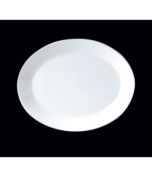 "Platter, 13"", oval, Distinction, Vogue, Monaco White (Canada stock item) (minimu"