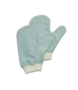 Hygen™ Glass/Mirror Mitt, with thumb, microfiber, blue