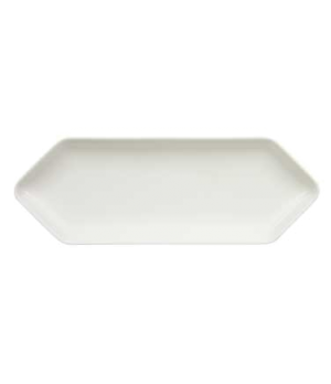 "Platter, 13"" x 4-3/4"", hexagon, premium porcelain, Pi Carre"