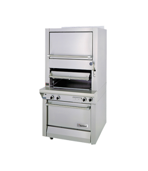 Master Series Broiler, deck-type, gas, single infrared deck with finishing oven,