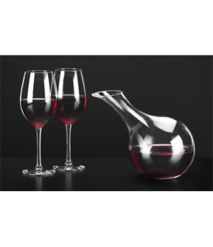 "Vina™ Tilt Decanter, 63 oz., hand-blown, tilted, (H 8-3/8""; T 2-3/4""; B 3-1/2"";"