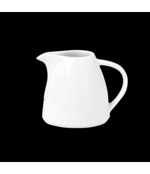 "Creamer, 5 oz., 3-7/8""W x 3""H, with handle, porcelain, Tria, Simple Plus (minimu"