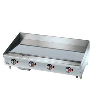 "Star-Max® Griddle, countertop, gas, 48""L, 27-3/4""D, 15-1/2""H, 1"" chrome griddle"