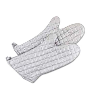 "Grill/Oven Mitt, 17""L, heat resistant up to 200° F (93° C), non-stick aluminiz"