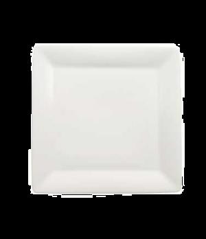 "Plate, 8-2/3"" x 8-5/8"", flat, premium porcelain, Pi Carre"