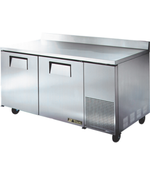 Deep Work Top Refrigerator, two-section, (4) shelves, 16 ga. stainless steel top