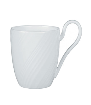 "Ethereal Mug, 4""H, dishwasher safe, bone china, white"