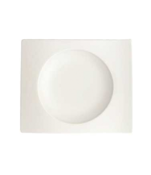"Saucer, 7-1/8"" x 5-7/8"", premium porcelain, New Wave"