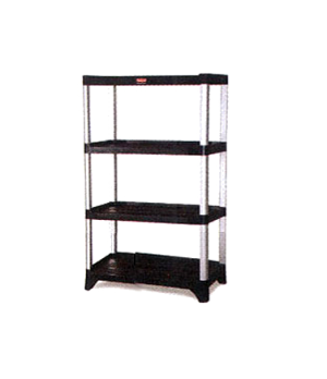 "Xtra™ Shelving Unit, 71-3/8"" H x 35-1/8"" L x 20"" W, (4) solid polymer shelves wi"