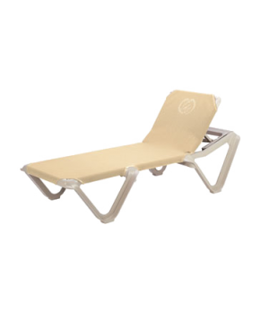 Nautical Chaise, stackable, without arms, adjustable sling, sandstone frame, pow