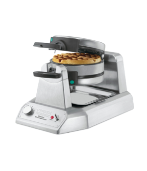 "Belgian Waffle Maker, double, up to (25) 1-1/4"" thick waffles per hour, audio be"