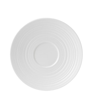 "Jasper Conran Tea Saucer Strata, 6-1/4"" dia., round, dishwasher safe, bone china"