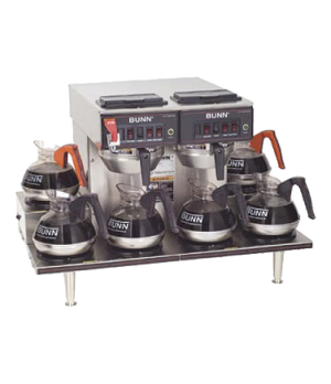 23400.0020 CWTF 0/6 TWIN Coffee Brewer, automatic, with 6 lower warmers, (2) 300