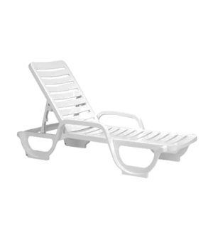 Bahia Chaise, adjustable, resin, white