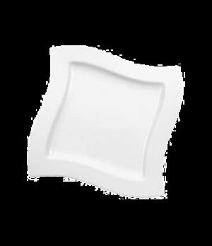 "Plate, 10-5/8"" x 10-5/8"", flat, premium porcelain, New Wave"