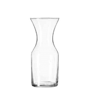 "Decanter, 21-1/4 oz., glass, (H 7-3/4""; T 3-1/2""; B 3""; D 3-1/2"")"