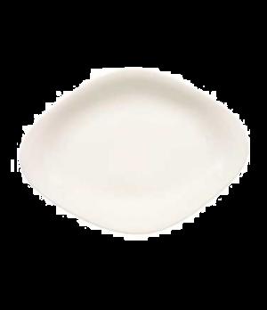 "Plate, 14-1/8"" x 9-7/8"", oval, premium porcelain, Dune"