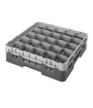 Camrack® Glass Rack, with extender, full size, low profile, 25 compartments, 3-1