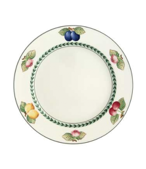 "Plate, 9-1/2"", flat, premium porcelain, French Garden-Dampierre (Special Order)"