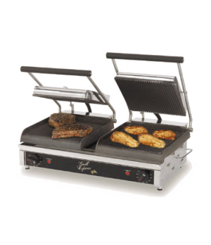 "Grill Express™ Two-Sided Grill, electric, 20""w fixed lower grill, (2) hinged upp"