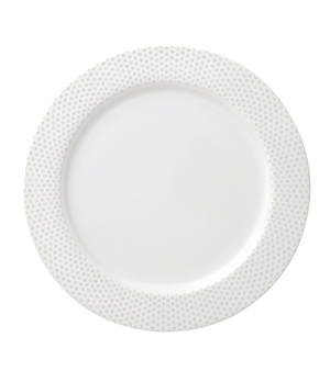 "Plate, 11-3/8"" (29cm), flat, salamander/microwave/dishwasher safe, premium porce"