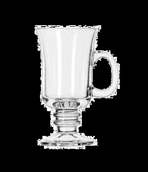 "Irish Coffee Mug/Dessert, 8-1/2 oz., with handle, (H 5-7/8""; T 3-1/8""; B 2-3/4"";"