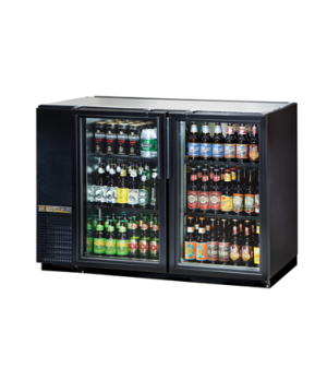 "Back Bar Cooler, two-section, 24"" deep, 34-1/4"" high, (48) 6-packs or (2) 1/2 ke"