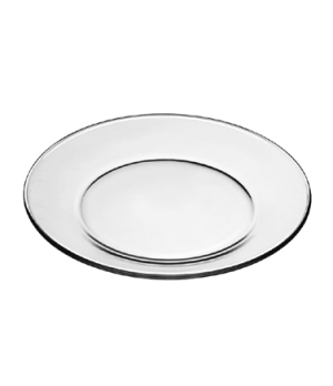 "Dinner Plate, 10-1/2"" dia., round, glass, tempered, MODERNO (H 1""; T 10-1/2""; D"
