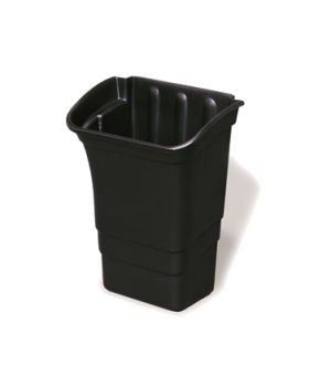 "Refuse Bin, 8 gallon, 17""W x 12""D x 22""H, black"