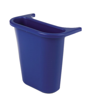 "Side Bin Recycling Container, 13-5/8 quart, 10-3/5""W x 7-3/10""D x 11-7/10""H, pla"