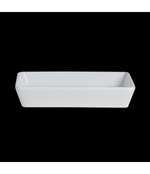 "Tray, 6-7/8"" x 5-1/8"" x 1-1/4""H, rectangular, deep, Varick Cafe Porcelain (USA s"