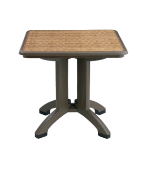 """Havana Outdoor Folding Table, MPC® technology, 32"""" Square, with umbrella hole,"""