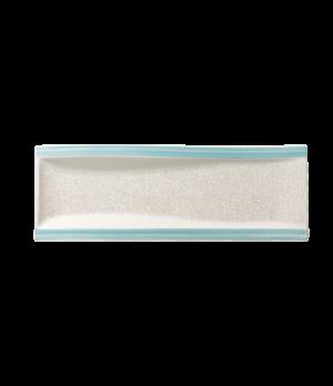 "Antipasti Plate, 16-1/2 "" x 6"", rectangular, flat, premium porcelain, Amarah Aqu"