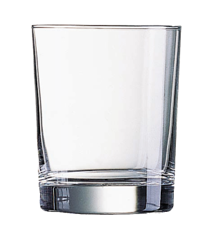 "Old Fashioned Glass, 9-1/2 oz., glass, Arcoroc, Stockholm, (H 3-5/8""; M 3"")"