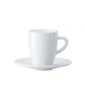 White Coffee Cups/Saucers.