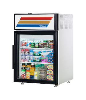 Countertop Refrigerated Merchandiser, (2) shelves, laminated vinyl exterior, whi