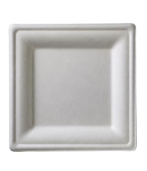 "Disposable Plate, 10-1/4"" x 10-1/4"" (26 x 26 cm), square, biodegradable/composta"