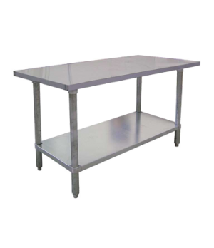 "(22074) Standard Work Table, 60""W x 30""D x 34""H, 18/430 stainless steel flat top"