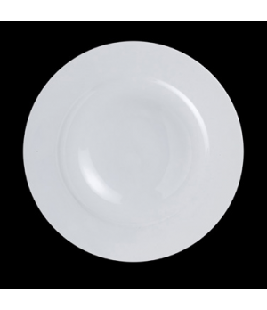 "Plateau Plate, 12"" dia. (1-7/8"" rim), round, porcelain, Crucial Detail (priced p"