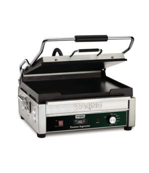 "Tostato Supremo® Panini Grill, full size, with programmable timer, 14""x14"" flat"