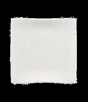 """Plate, 11"""", square, premium porcelain, Cera"""