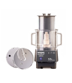 Commercial Food Processor, 4 quart, vertical chute feed design, polycarbonate ba