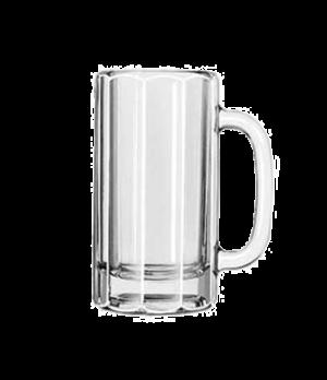 """Mug, 12 oz., paneled, (H 5-7/8""""; T 3-3/8""""; B 3-1/4""""; D 5-1/8"""")"""