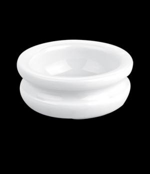 "Butter Block, 1 oz.,2 -1/2"", round, grooved, 260130BL, porcelain, Pillivuyt, Min"